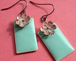 garden party earrings in mint and pink