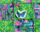 Lime Green and Pink Kitty Quilt