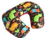 FREE SHIPPING - Traveling Toddler - Cats on the Loose - Minky Soft Travel Neck Wrap Pillow