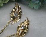 Golden Leaf Hairpins