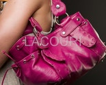 Handmade Genuine Leather handbag Hobo in Fuchsia