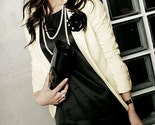 On Sales Ivory/Navy Button Detail Short Blazer (2 color)