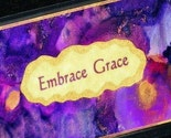 Embrace Grace Handpainted Scripture Bookmark Gorgeous colors-PURPLE,BLUE,GOLD,COPPER and metallics--FREE SHIPPING