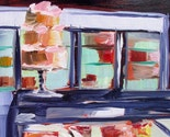 Pastry Counter with Cake Original Oil Painting Daily painting