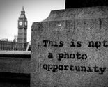 Banksy 'This is not a photo opportunity' London 12x8