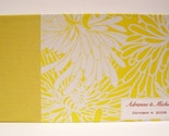 Custom Made Guest Book - lemon yellow chrysanthemum print