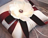 Burgundy Magnolia Garden Ring Bearer Pillow