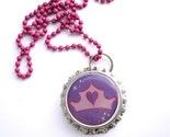 Pretty Pretty Princess -- fun bottle cap necklace on pink ball chain