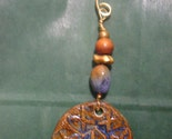 NEW 5 inch Christmas ornament with hand made ceramic pendant by the muddy muse