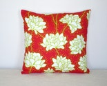 Pillow Cover - 16 Inch  Retro Red Peonies