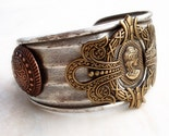 Athena's Cuff Bracelet - Ancient Greek, Roman in Silver Brass and Copper