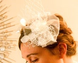Penelope, a fascinator for the modern bride