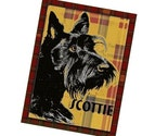 SCOTTY DOG ACEO Art Card ATC Scottish Terrier SCOTTIE Cute Puppy SCOTCH TARTAN PLAID TRADING CARD