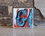 the letter G--4x4 print on gallery wrapped canvas