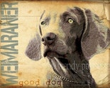 WEIMARANER DOG ART PRINT Modern Grunge GRAFITTI Vintage Poster CUTE WEIMERANERHOUND