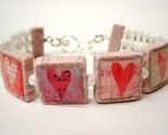 Pink Love Heart Bracelet