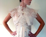 Cloud Nine silk organza ruffle jacket