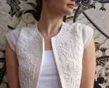 Ivory beaded cashmere bridal shrug
