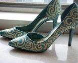 Full Swirls Handpainted Heels sz 10
