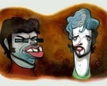 Flight of the Conchords Giclee Painting