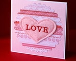 Embroidered Love Card