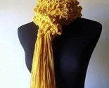 Fields of Gold Crochet Scarf in Golden Yellow