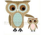 CUTE OWL PRINT Mama Owl and Baby Owling CUTE MODERN ART Sooo Big SIGNED BIRD POSTER Your Colors CUTE NURSERY ART