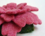 Reclaimed Wool Sweater Brooch - Coral Pink Azalea - FREE US SHIPPING - Great Gift for Mother's Day