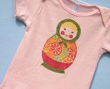 Matryoshka Russian Doll Tee Shirt Size 18-24 month