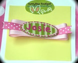 Boutique Personalized Hair Clippie - Name or Monogram -U Pick the Colors