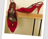 vintage BALLY slingback heels sz 6 1/2