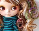 Blonde Highlight Colorful Curly Wig for Blythe Dolls