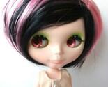 Black and Pink Short Punk Hair Wig for Blythe Dolls