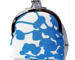 Blue and White Pod Small Frame Coin Purse