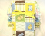 Cute Safari Animals Flannel Crib Sized Receiving/Swaddling Baby Blanket