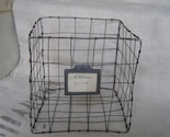 WIRE BASKET with vintage zinc label of wine cave