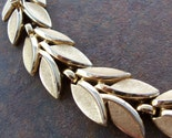 Crown Trifari  Goldtone Leaf Bracelet Circa 1950-60