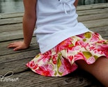 Bloome Single Ruffle Twirl Skirt in PINK Floral