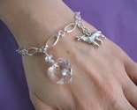 QUALITY Bella Bracelet - Rare Crystal Heart - Sterling - 7 inches