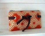 Knotted Pouch in Tangerine Tile