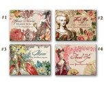 48 Customized MARIE ANTOINETTE 1.9 inch x 2.5 inch STICKERS By Vintage Bella