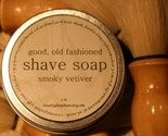 Natural Mens Shaving Set w/ Brush in Smoky Vetiver (FATHERS DAY PRICE REDUCTION)