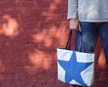 Recycled Sail Purse - Blue Star