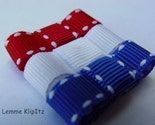 Itty Bitty Baby Clips-Basic 4th of July Set-PERFECT FOR GIRL'S WITH LITTLE/THIN HAIR-newborns and infants
