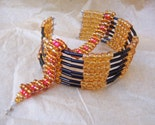 Gold Orange Bead Bracelets
