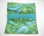 Green and Turquoise Eco-Green Sandwich Bag