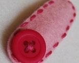 Neskat's  Wool Felt Hair Clip -Cute as a Button-