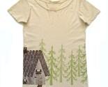 Organic T-shirt- Woodland Cottage Design