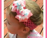 RUFFLE BOW BABY to GIRL HEADBAND with GYMBOREE CUPCAKE CUTIE CAKE 3 6 9 12 18 24 2t 3t 4 5 7