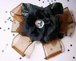 Death is a Rose (handmade Halloween hair clip)